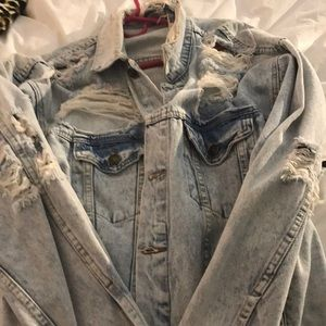 LF/Carmar Shredded denim jacket